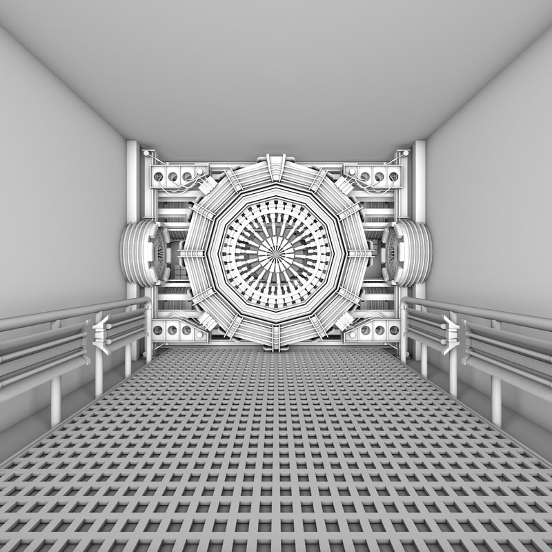 designs science fiction interior model