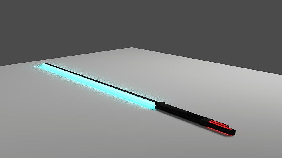 scifi glowing sword 3D model