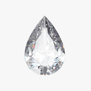 3D pear diamond