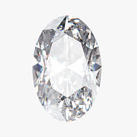 oval diamond 3D