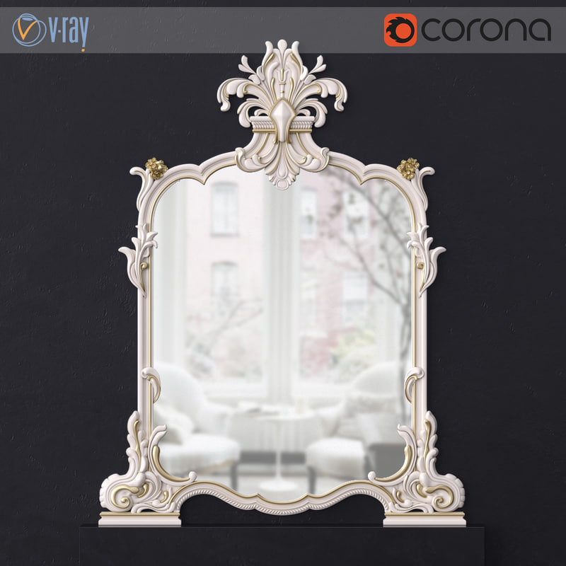silik classical mirror 3D model