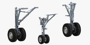 a320neo landing gears 3D model