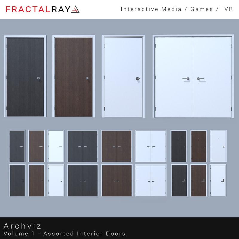 archviz interior doors 3D model