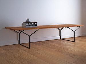 bertoia bench model