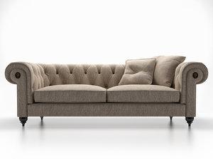 3D alfred sofa model