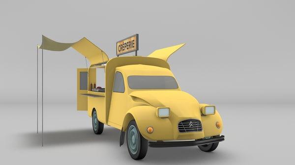 citroen 2cv 3D model