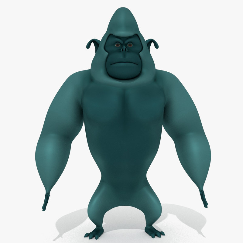 3D monster cartoon gorilla