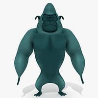 3D monster cartoon gorilla