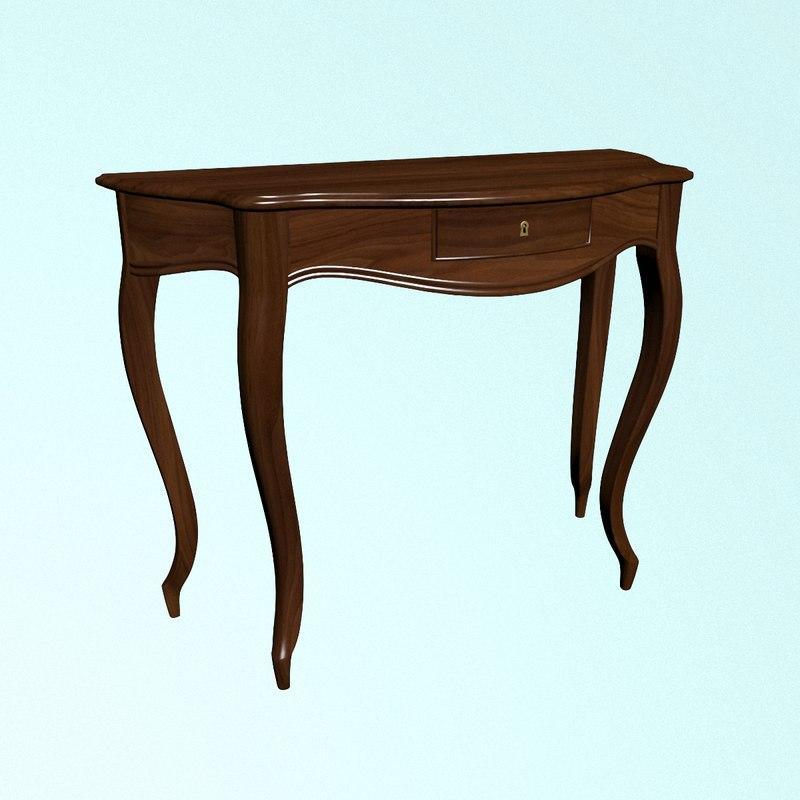 coffee table walnut 3D