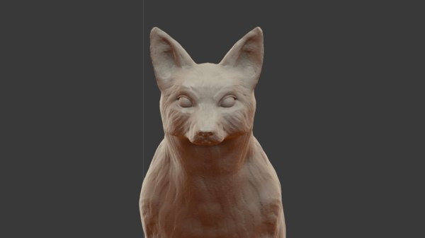 3D sculpture fox model