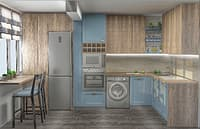 transitional kitchen 3D