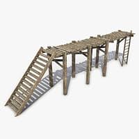 3D pedestrian modular bridge model