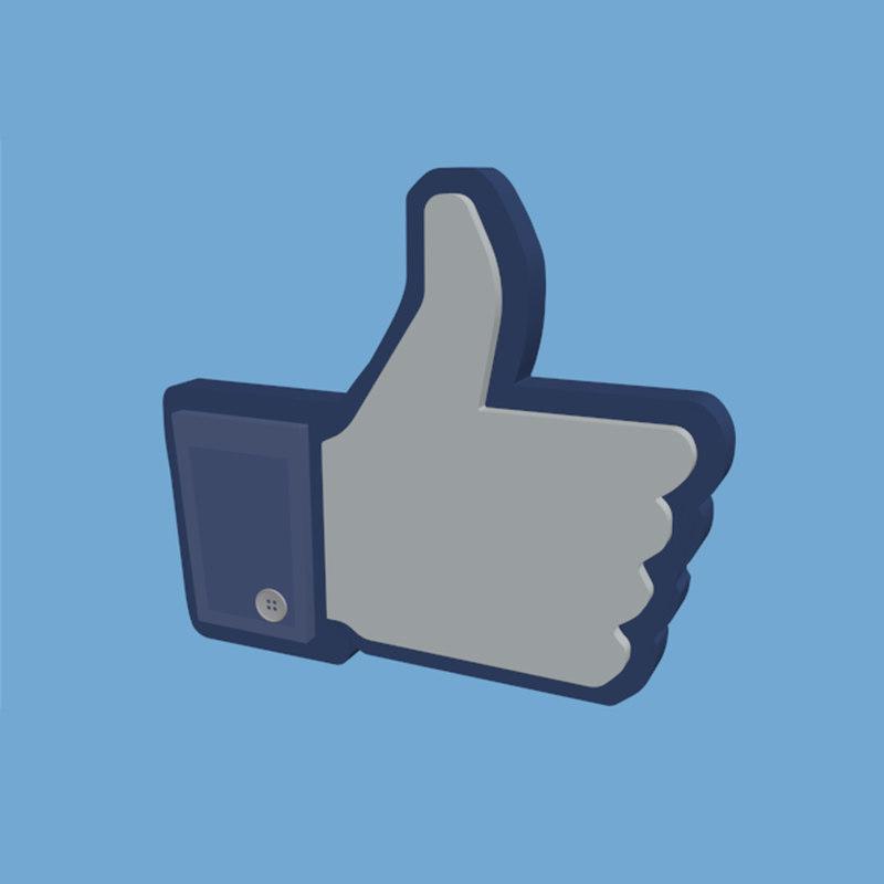 3D thumb facebook button
