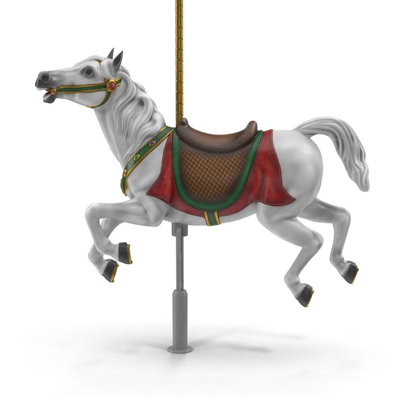 carousel horse v1 3D