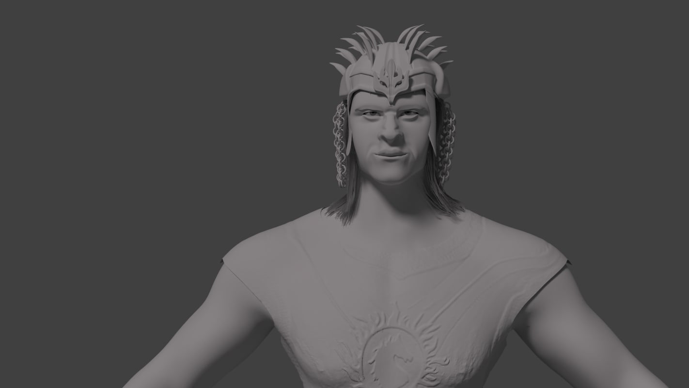 3D model bahubali indian