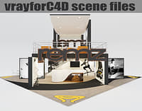vrayforc4d scene files - 3D model