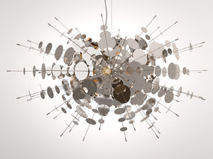 confetti chandelier 3D model