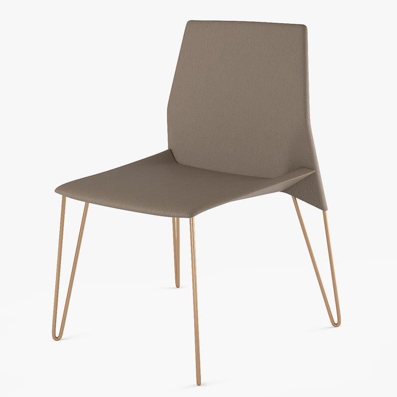 3D model chair heron bonaldo