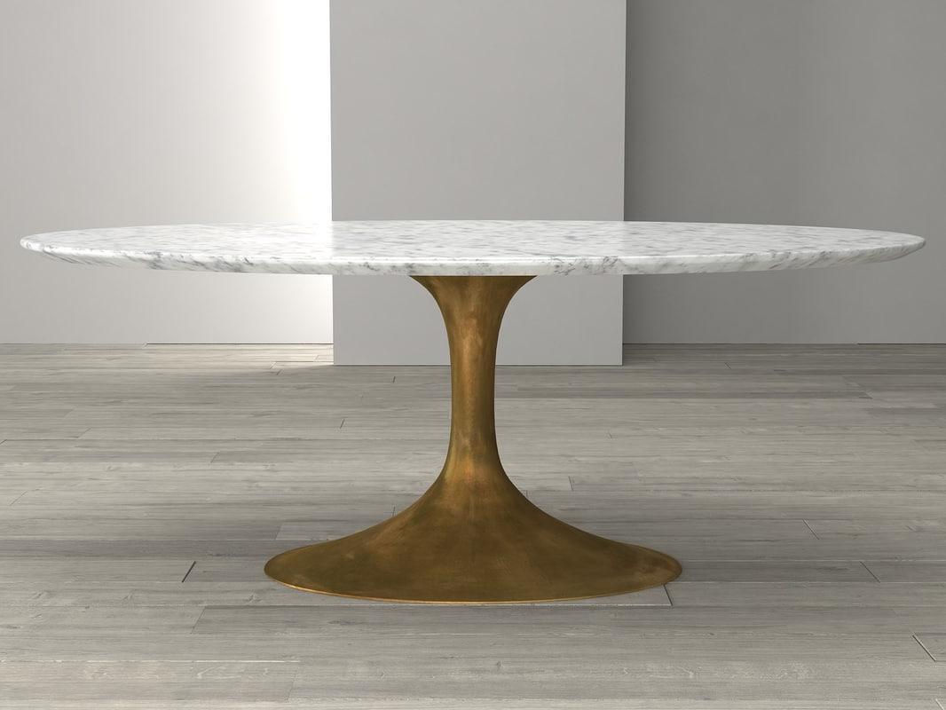 3d Aero Marble Dining Table Turbosquid 1161078