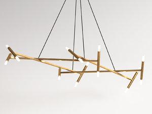 le diamant chandelier 3D model