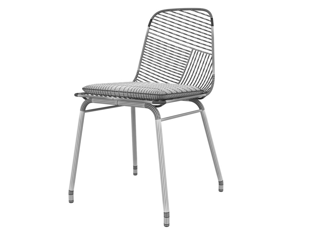 3D wire chair model