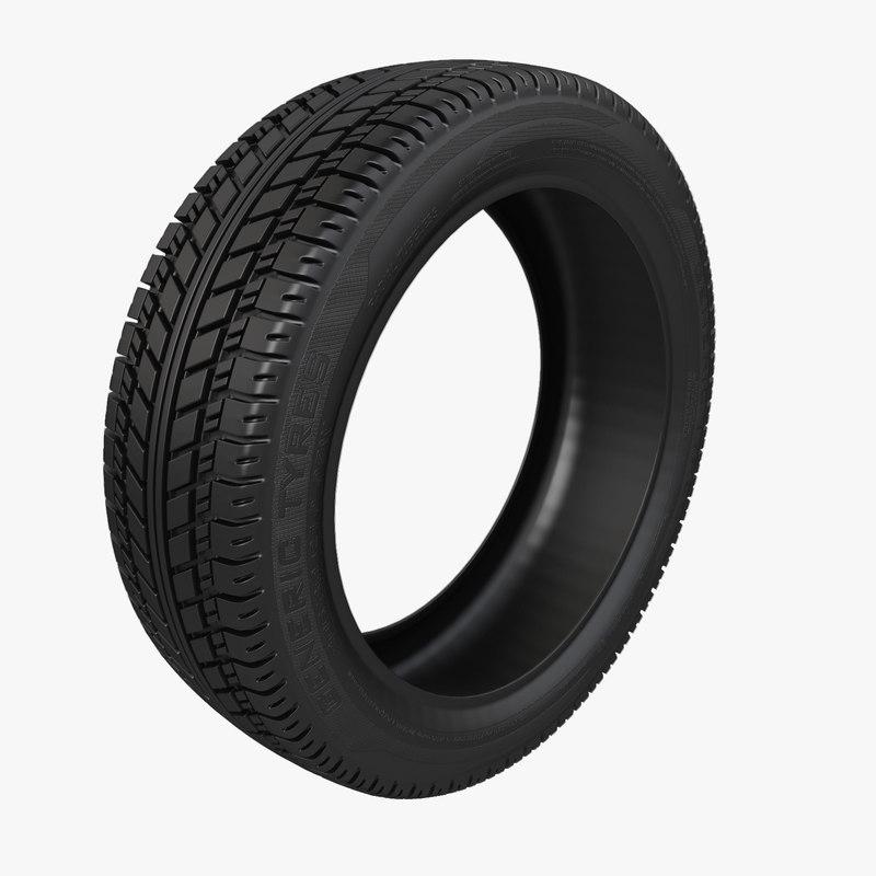 3D car tyre