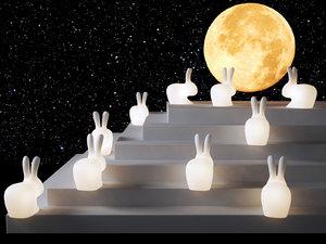 rabbit lamps 3D