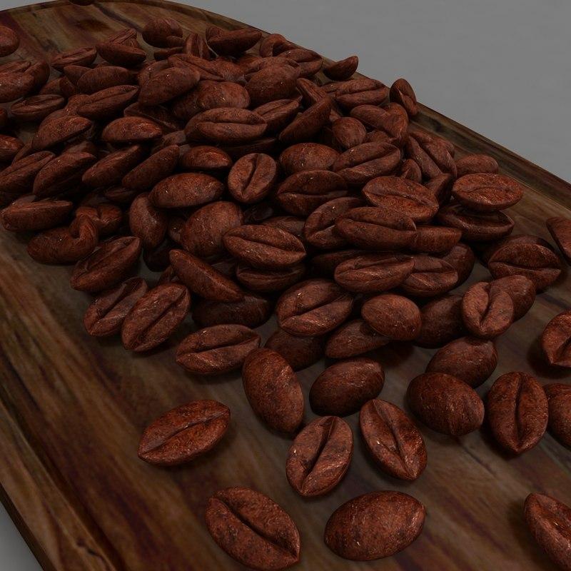 3D coffee beans