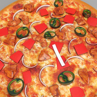 3D chicken pizza