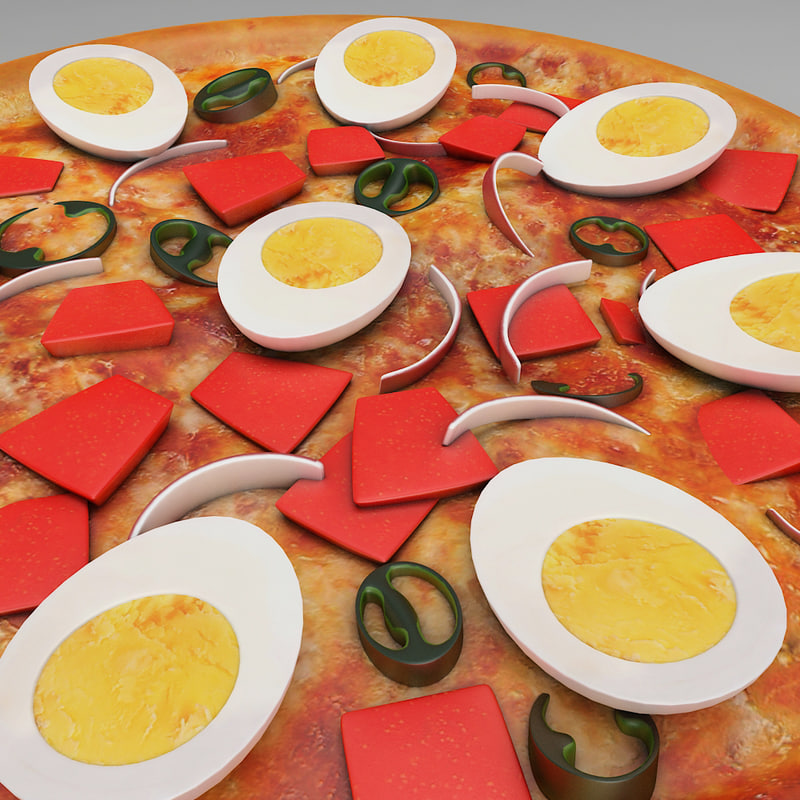 egg pan pizza 3D