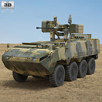 3D pandur ii 8x8 model