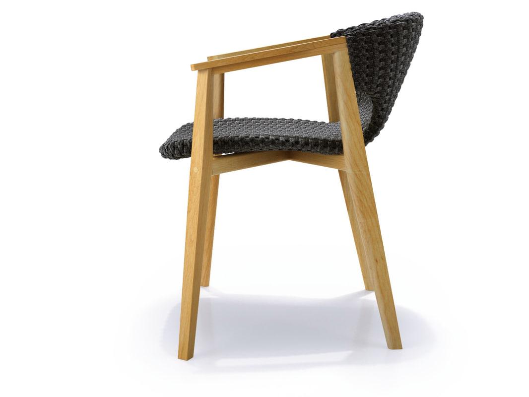 knit dining armchair 3D