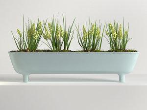 3D model long pot
