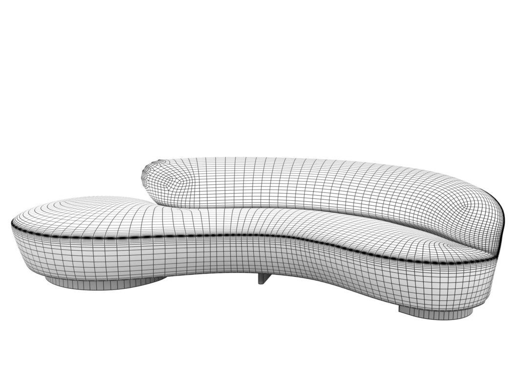 serpentine sofa n 3D model