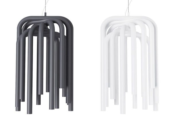 3D pipes suspension lamp