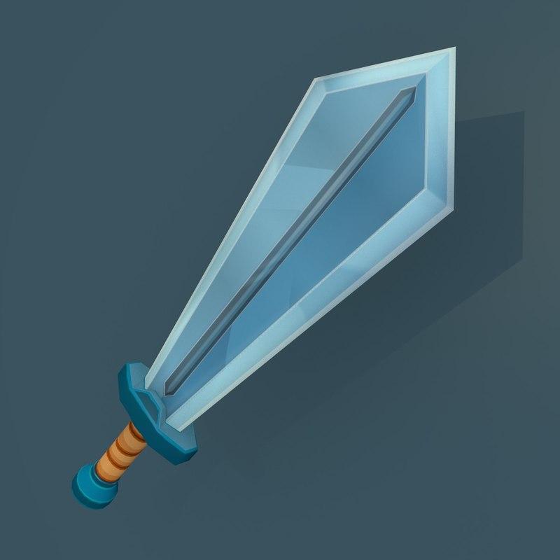 3D model cartoon sword games