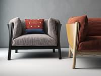 yak armchair 3D