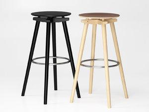 3D model bar stool cc