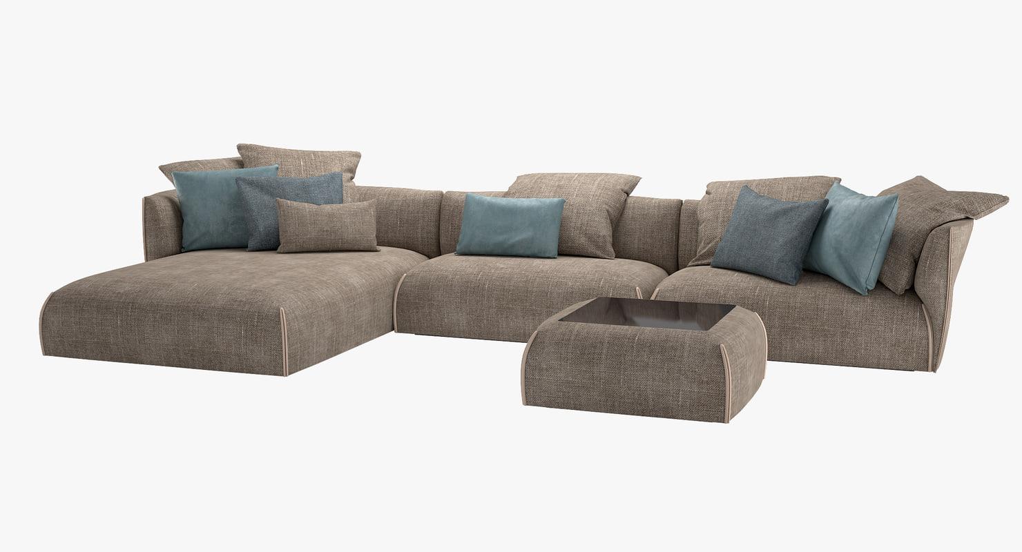 3D sofa gitano jori - TurboSquid 1161197