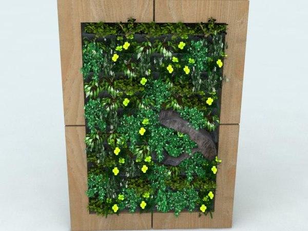 3D wall folliage model