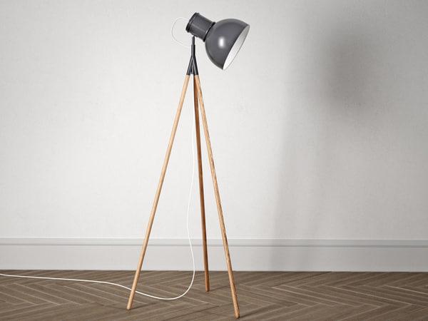 industry floor lamp model