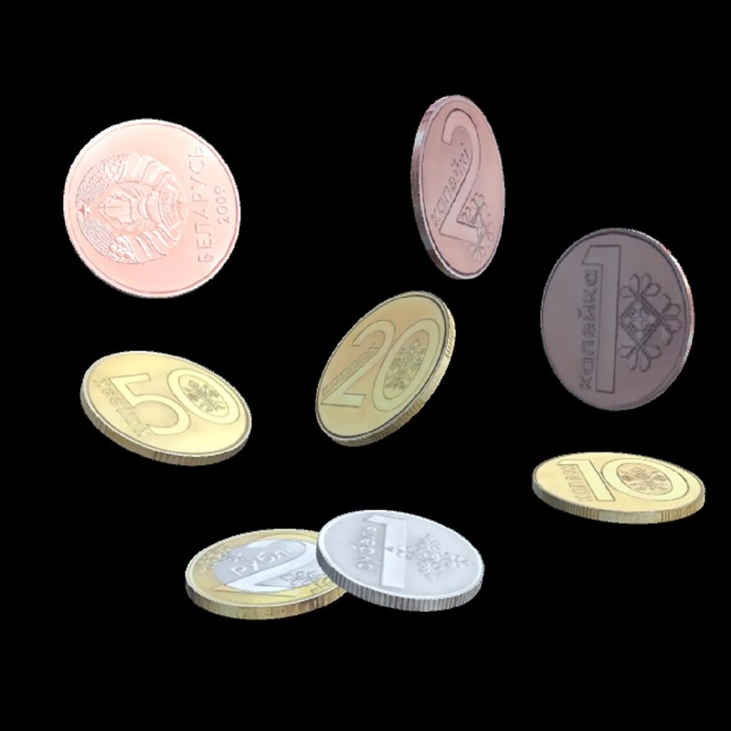 3D coins belarus model
