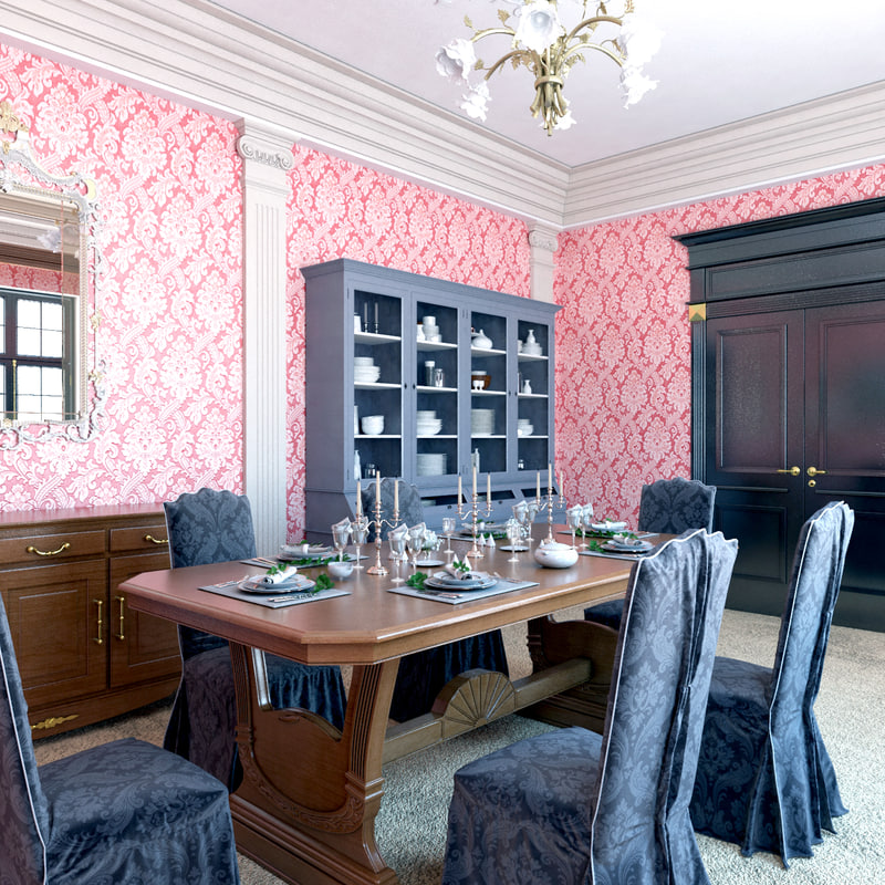 classic dining room 3D model