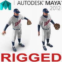 baseball player rigged twins model