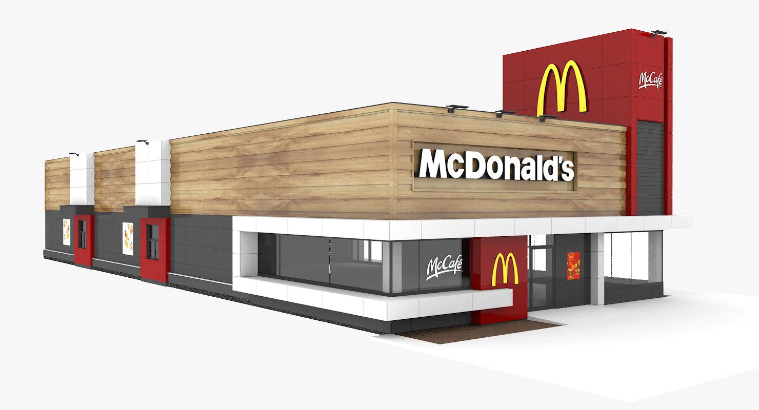 3D mcdonald s drive