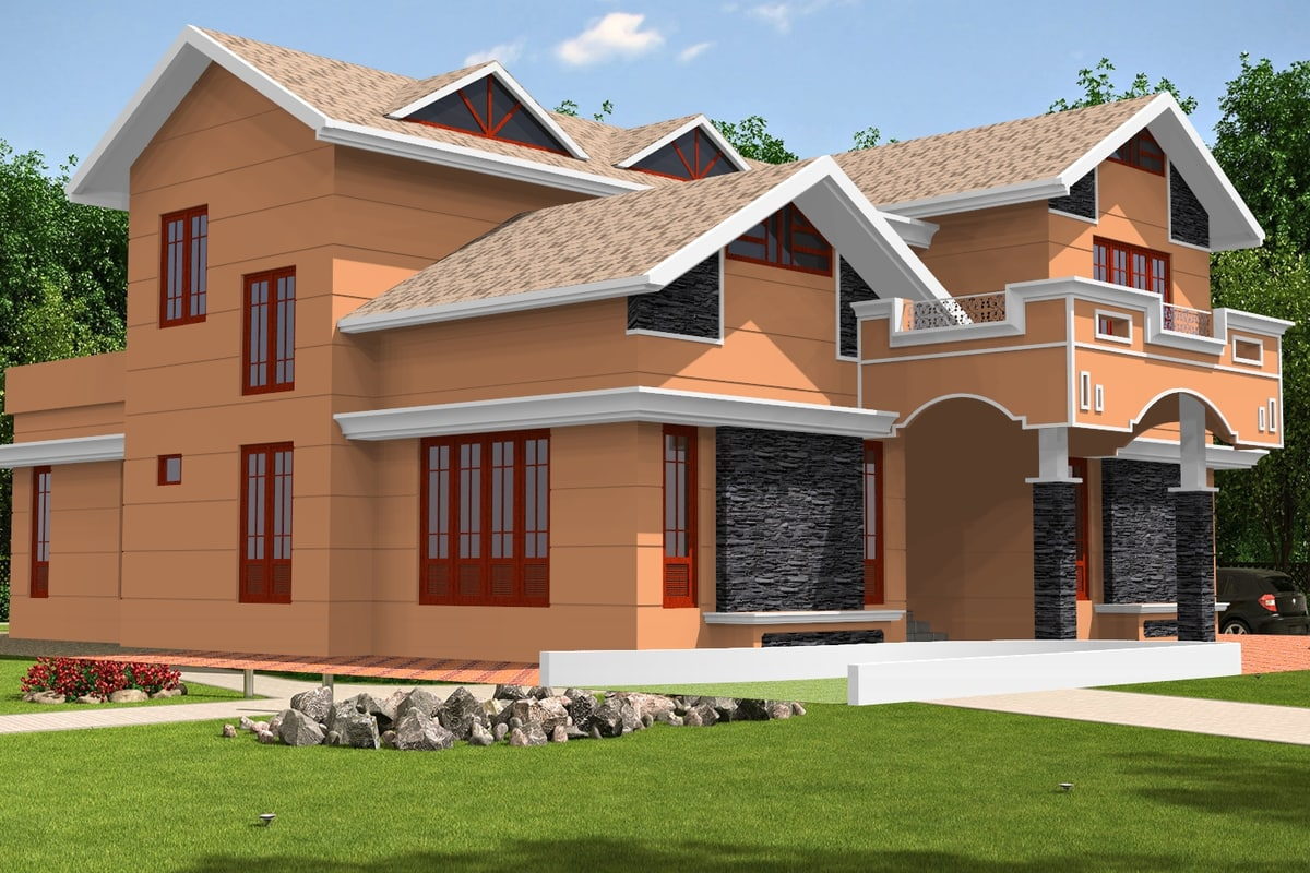 3D model new victorian roof home house