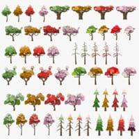Cartoon LowPoly Trees Pack