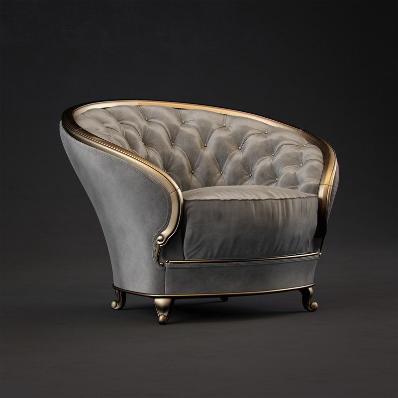 3D goldconfort armchair