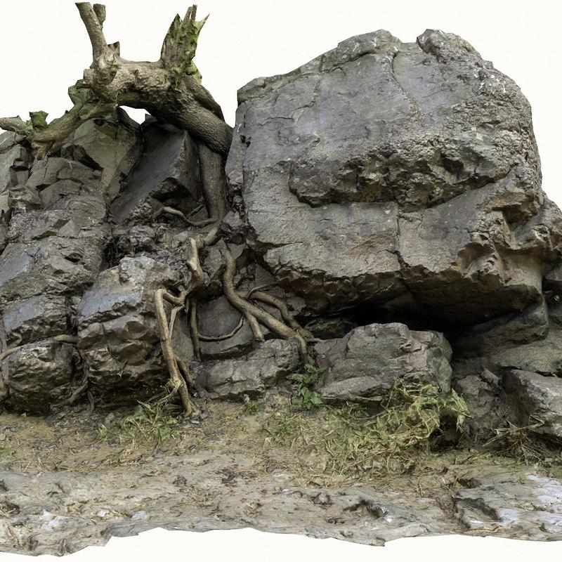 rock fragment 1 3D model