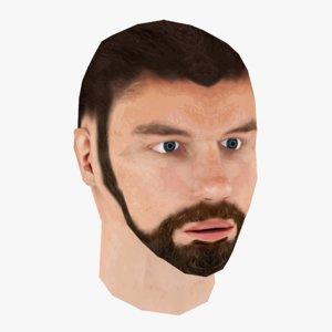 man male human 3D